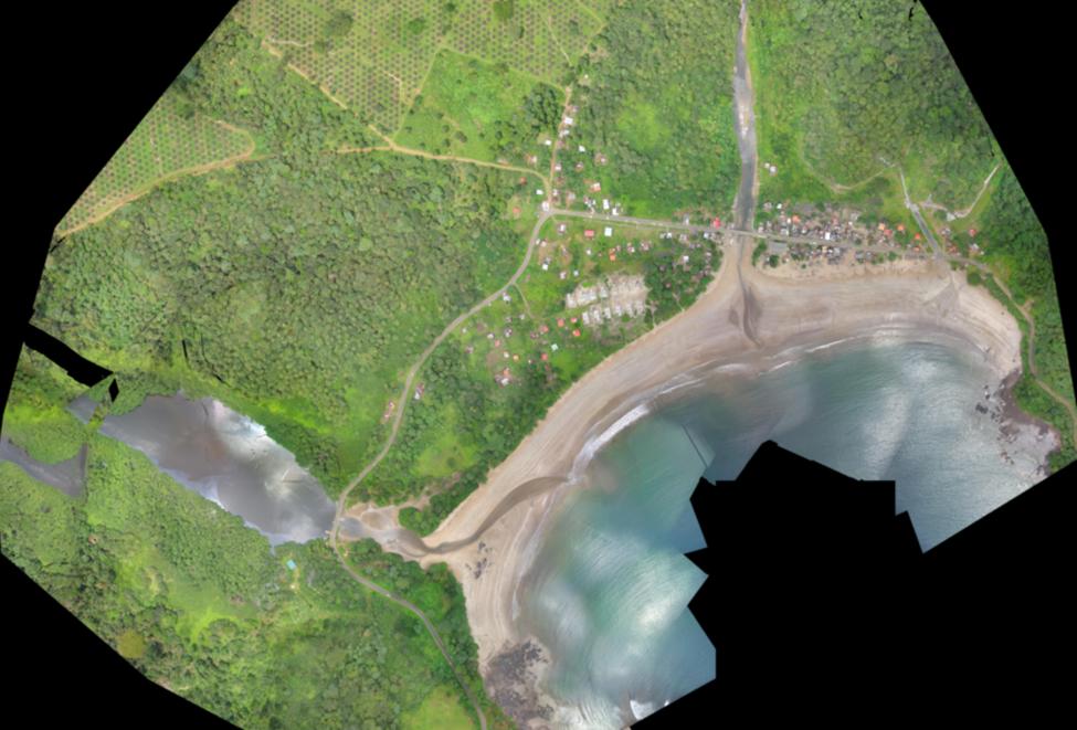 High resolution digital surface models using drones for coastal communities in São Tomé and Príncipe